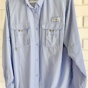Columbia Shirt-Light Blue-Size XL TG-Women's Tall